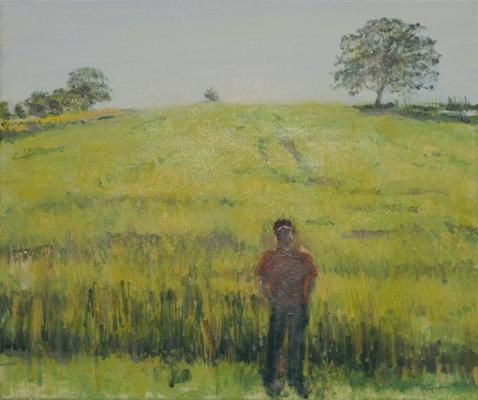 """""""Aufwachsen"""", Acryl, 50x60cm, 2010"""