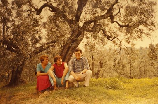 Mit meiner Mutter und meinem Bruder Wolfgang in Vinci, 1984