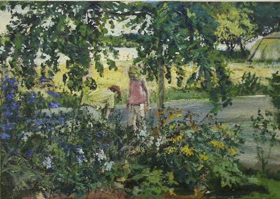 """""""Der Fund"""", Acryl auf Leinwand, 70x100cm, 2010"""
