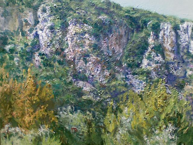 """Felswand (Bei Valldemossa, Mallorca), Acryl, 80x60cm"