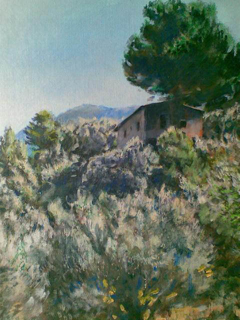 """Haus bei Deia (Mallorca)"", Acryl, 50x60cm, 2009"