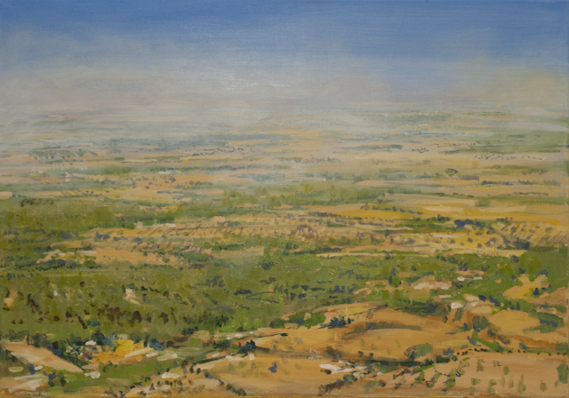 """Weitblick (Am Berg Randa, Mallorca)"", Acryl, 100x70cm, 2007"