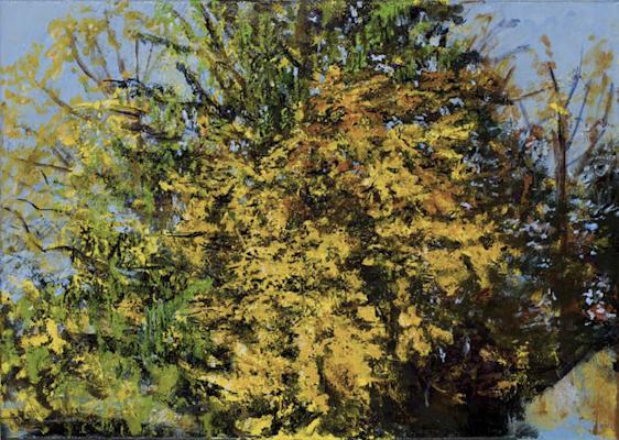 """Oktobergold"", Acryl, 70x50cm, 2007"