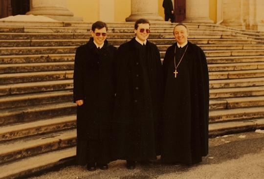 1987, mit P. Rupert links und Abt Clemens (+2009)