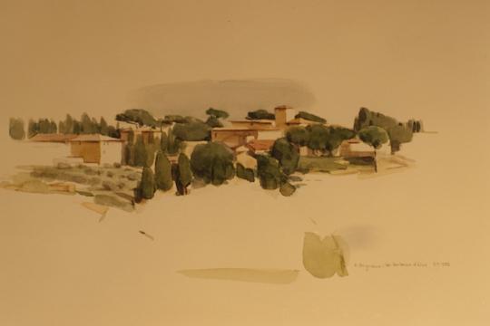 """""""Petrognano (Toscana)"""", Aquarell, 1989"""