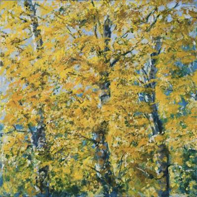 """""""Oktoberlaub"""", Acryl, 70x70cm, 2007"""