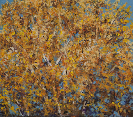 """""""Herbstfärbung"""", Acryl, 70x70cm, 2007"""