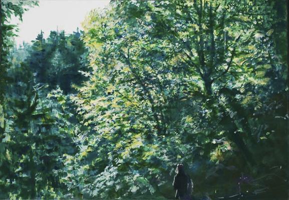 """Lichteinfall (Obersteiermark)"", Acryl, 00x70cm, 2007"