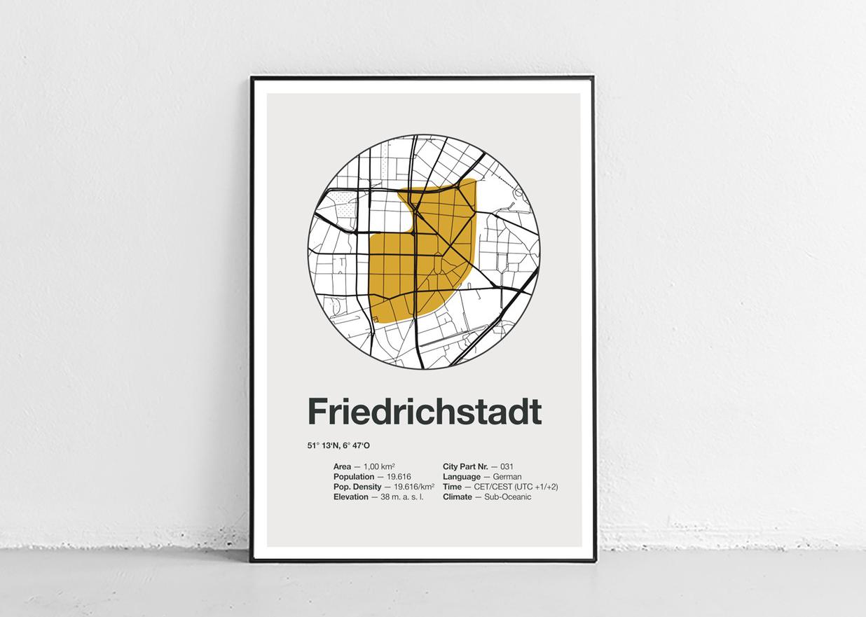 Dorfdruck Poster: Friedrichstadt.