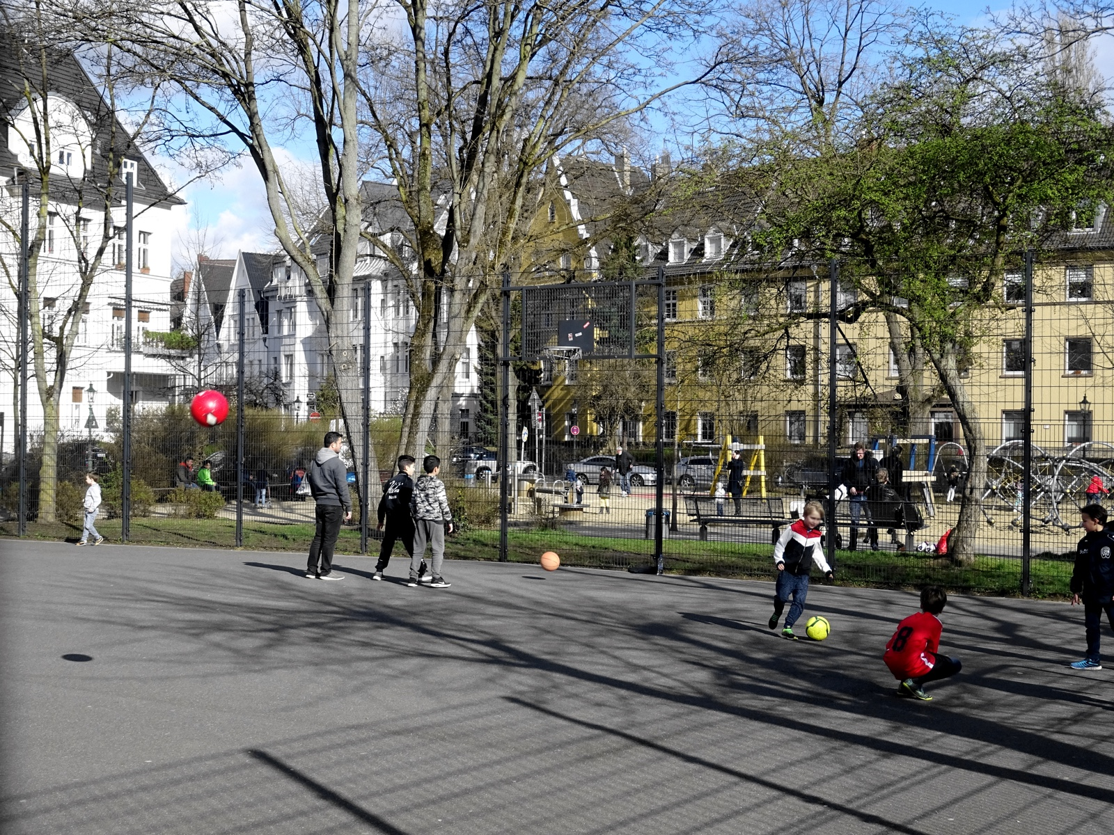 Streetball in Oberkassel.