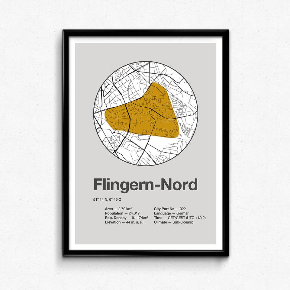 Dorfdruck Poster: Flingern Nord.