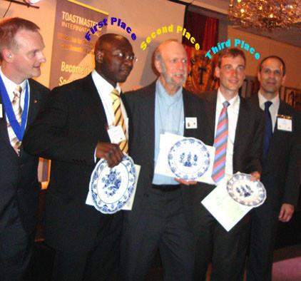 Bob Speech Contest Second Place winner