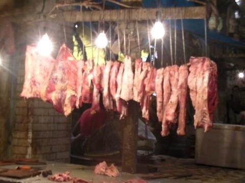 ニューマーケットの牛肉売り場