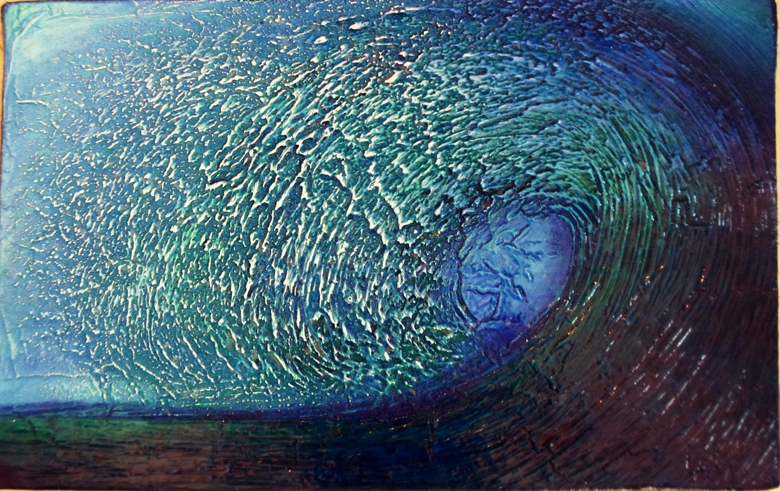 LaLa: Welle/wave/ola, 25x40cm