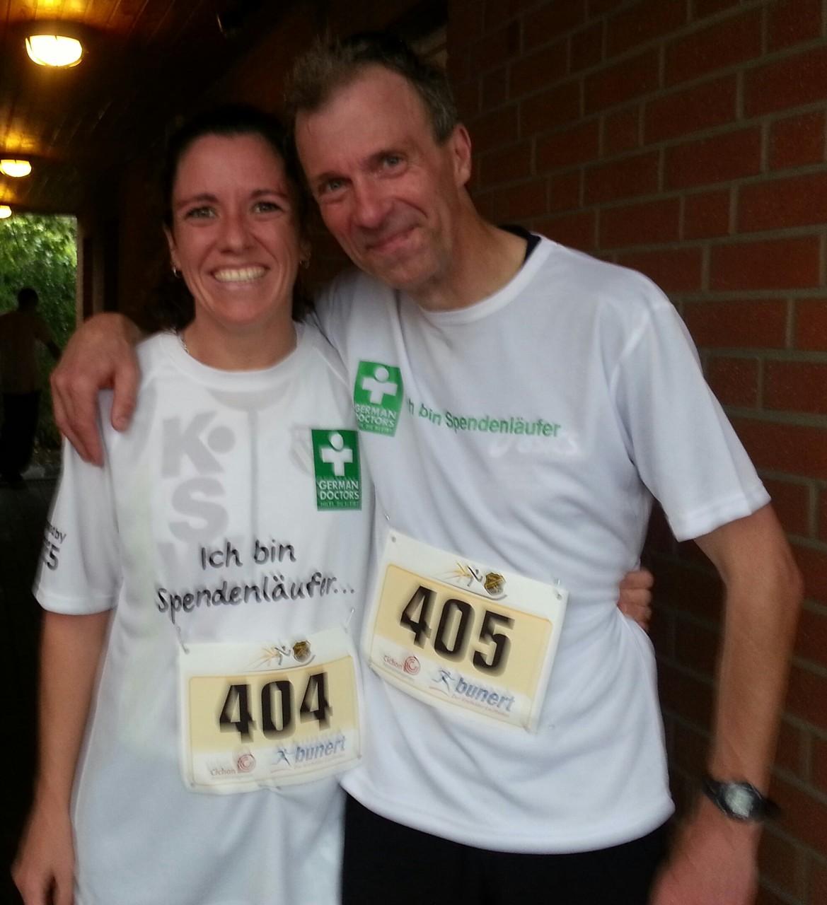 mit der deutschen marathon-meisterin silke optekamp, die mich beim meerbuscher sommerlauf zur neuen 10 km-bestzeit trieb (44:27)