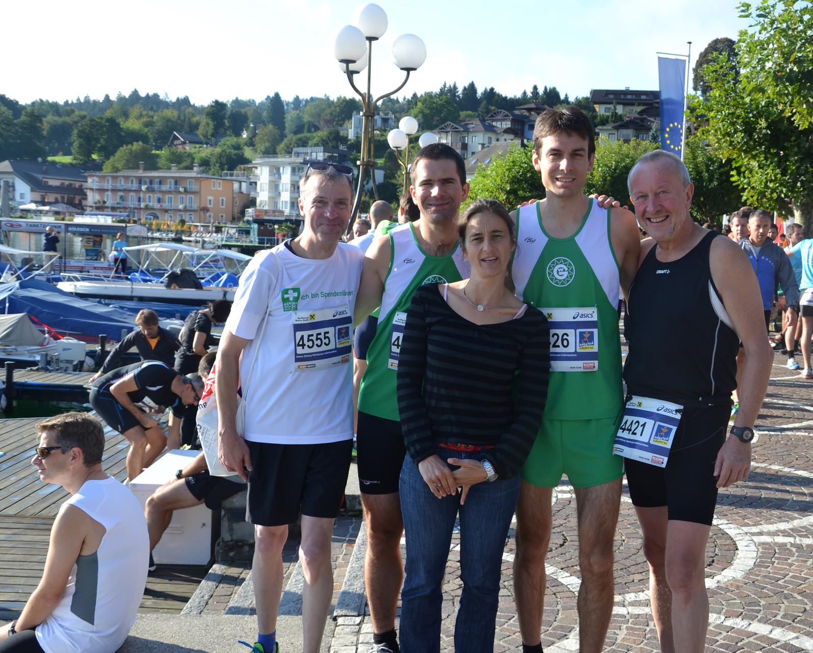 mit tanja weiß-thalmann, andy heckmann, nikolaj dorka und michael reuter beim klagenfurt-halbmarathon 2014