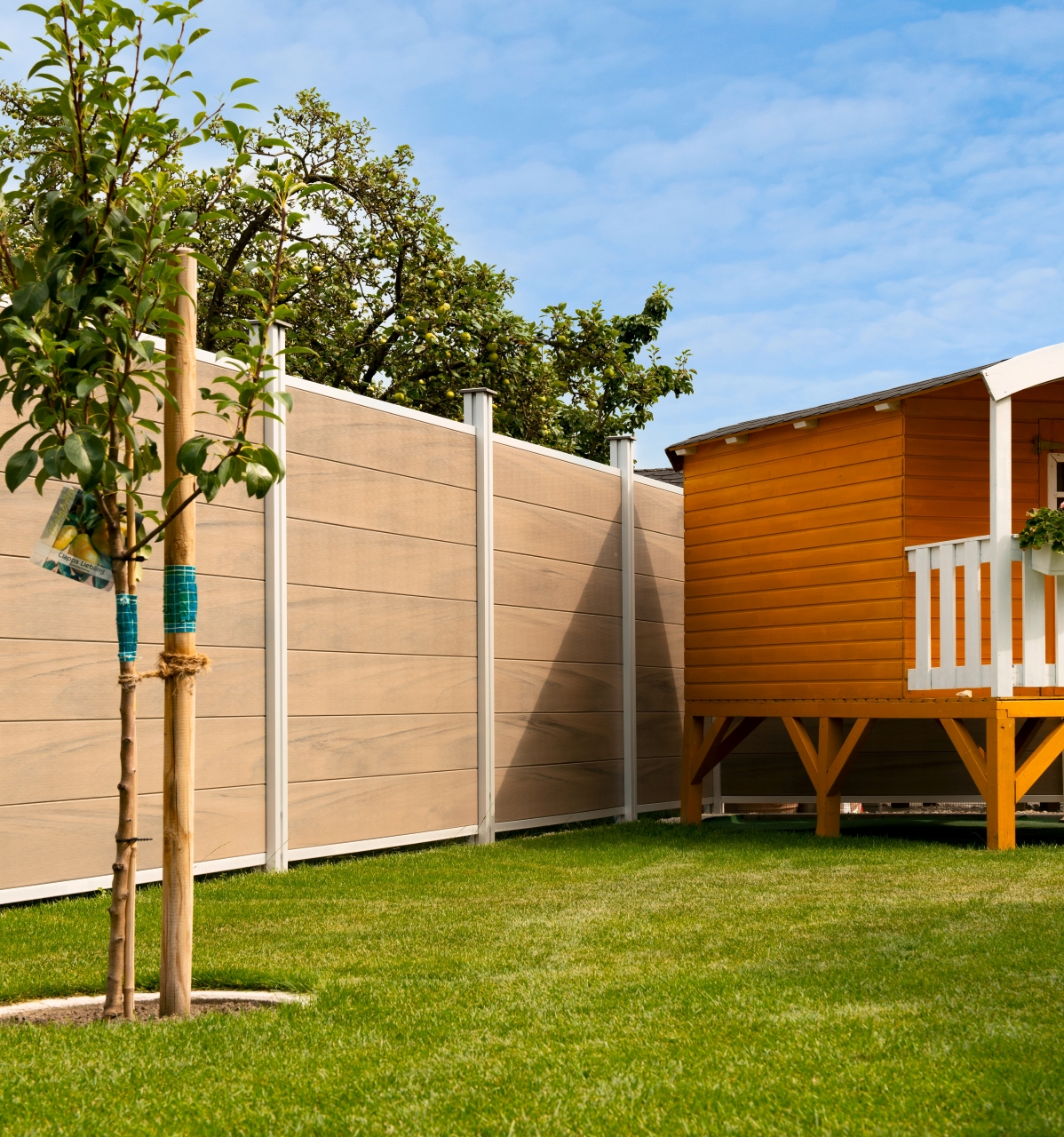 Sichtblende MULTI-FENCE CO-EXTRUSION (Lightbrown)