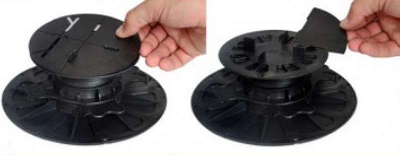 Stellfuss mit Ausgleichscheibe 1 mm hart