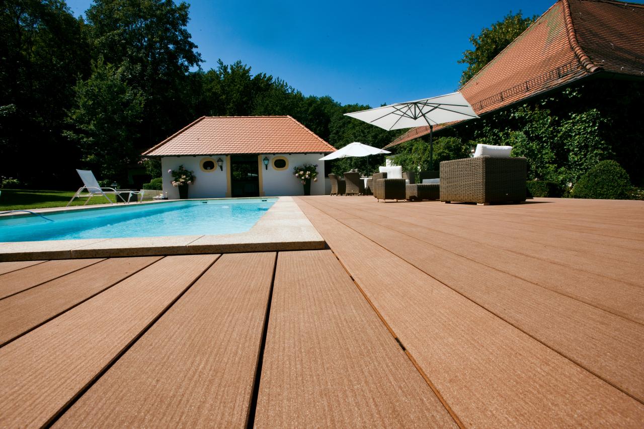 Terrassendiele Premium naturbraun
