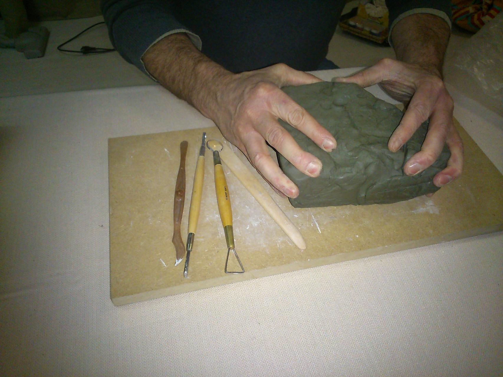 Pain d'argile prêt au modelage