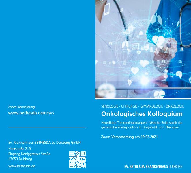 Zoom Konferenz am 19. März 2021, Onkologisches Kolloquium