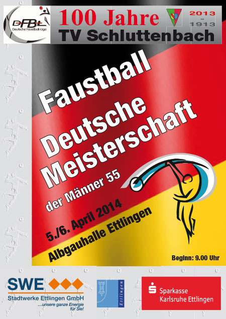 Faustball, Deutsche Meisterschaft der Männer 55 2014