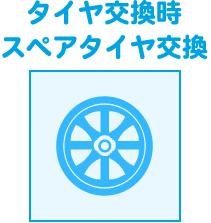 タイヤ交換時スペアタイヤ交換