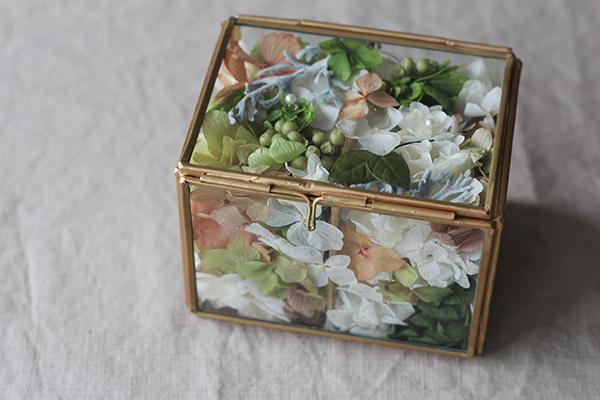 リングピロー,結婚式準備,ガラスケース,プリザーブドフラワー,フラワーアイテム,ナチュラル,tane's garden