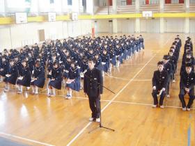 金津中学校同窓会入会式の生徒代表挨拶