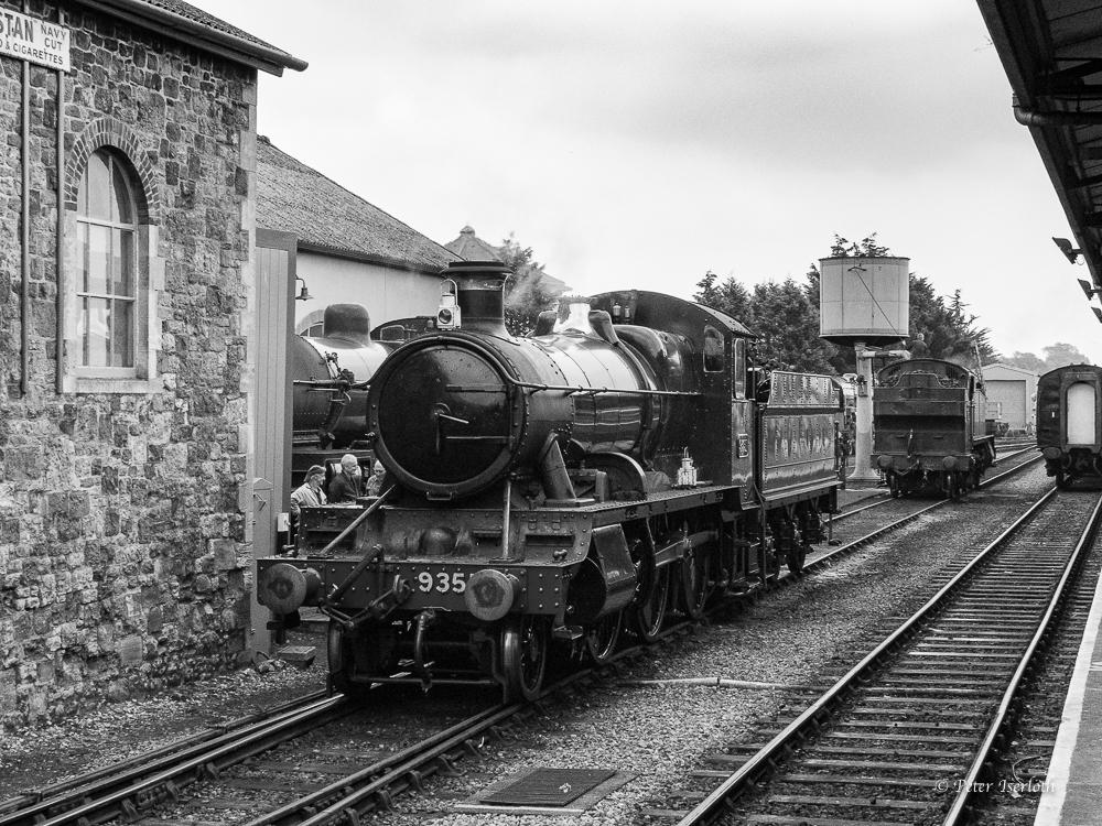 Dampflock im Bahnhof Minehead - Cornwall - England