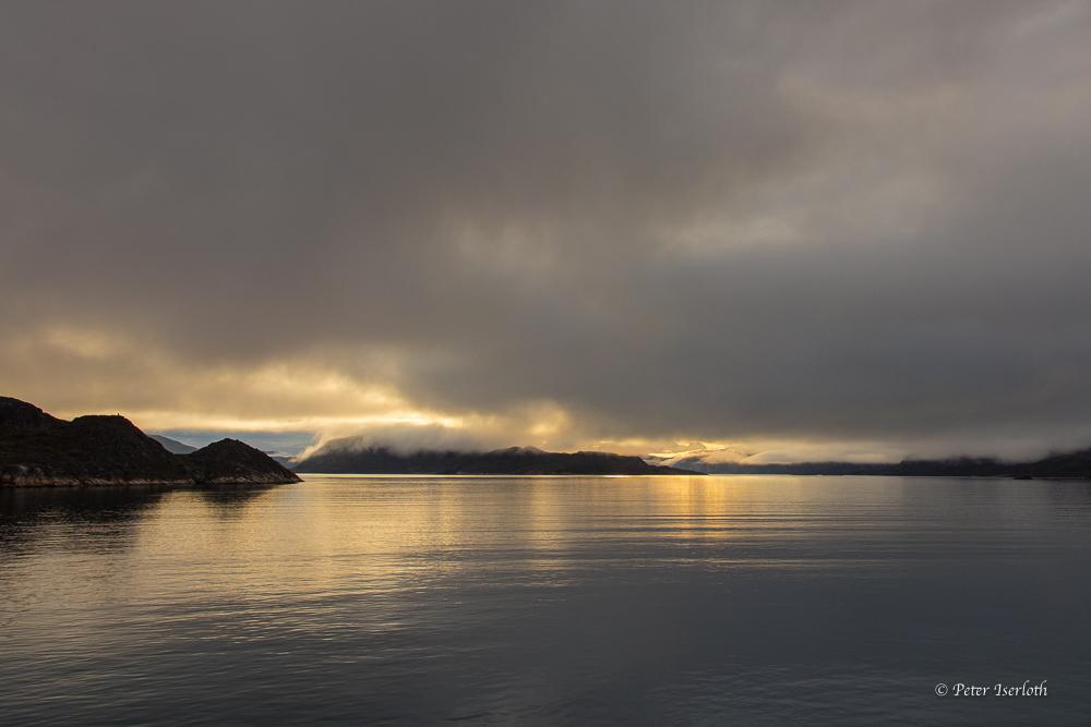 in einer Bucht vor Grönland