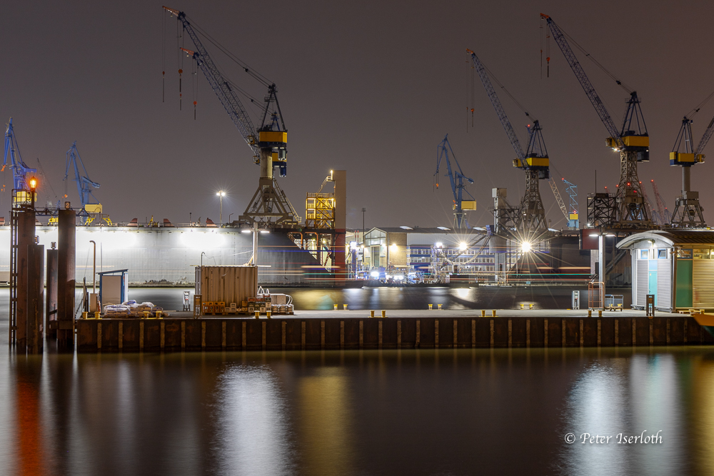 Blohm & Voss warten auf Arbeit, Hamburg, Deutschland