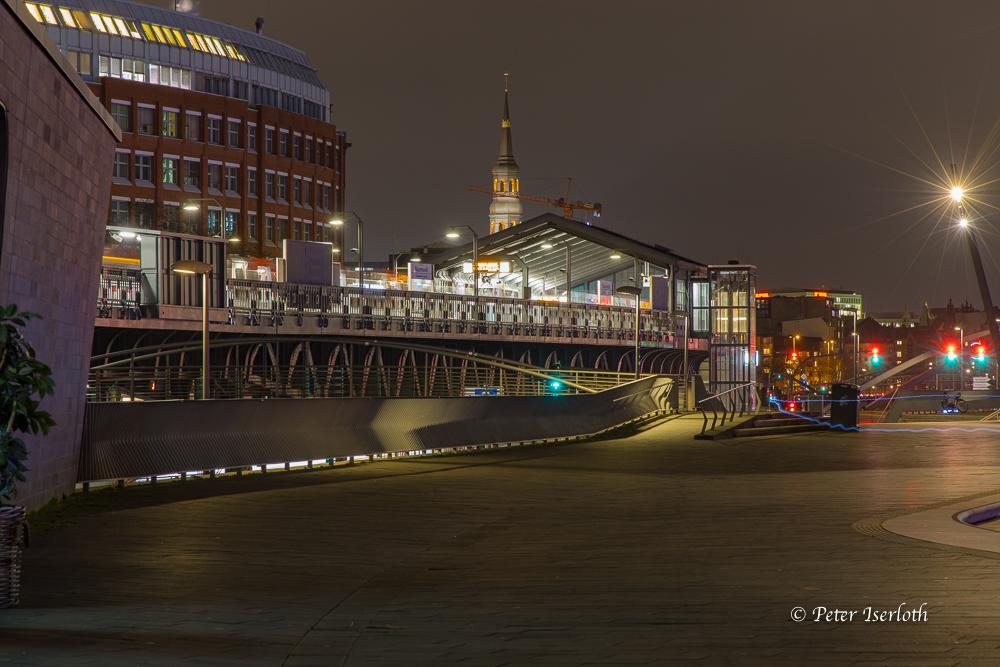 U-Bahnstation Baumwall, Hamburg, Deutschland