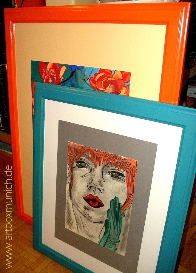 Neue individuelle Rahmen - New, individually coloured frames - www.artboxmunich.de