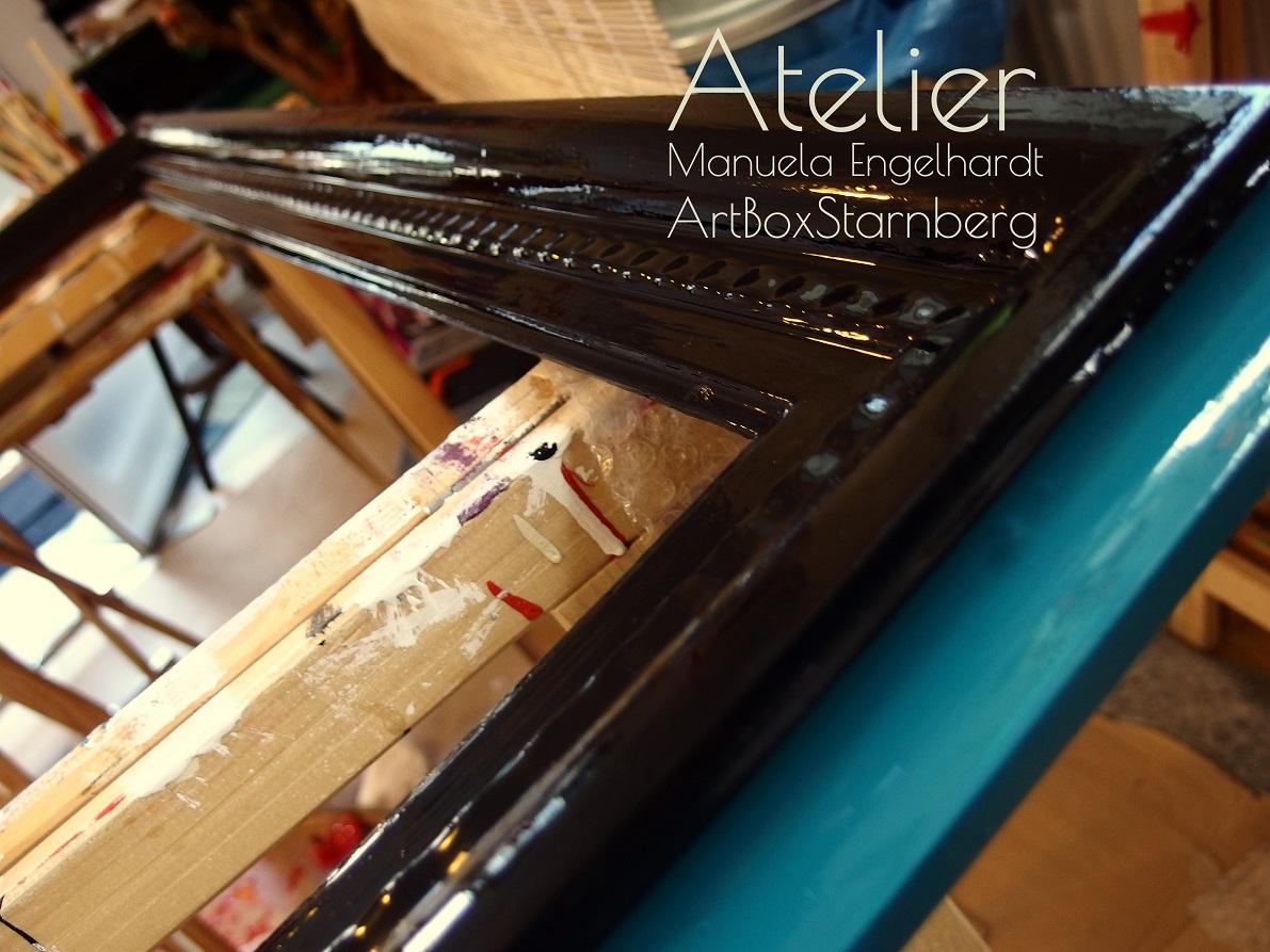 Upcycling Old Frames - Individuelles Aufbereiten alter Rahmen - www.artboxmunich.de