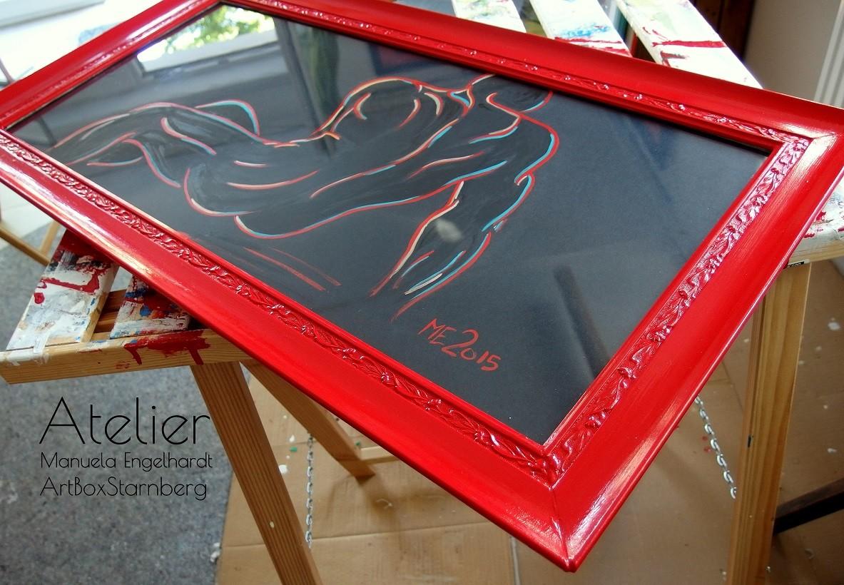 Upcycling Old Frames - Individuelles Aufbereiten alter Rahmen - www.ateliermanuelaengelhardt.de