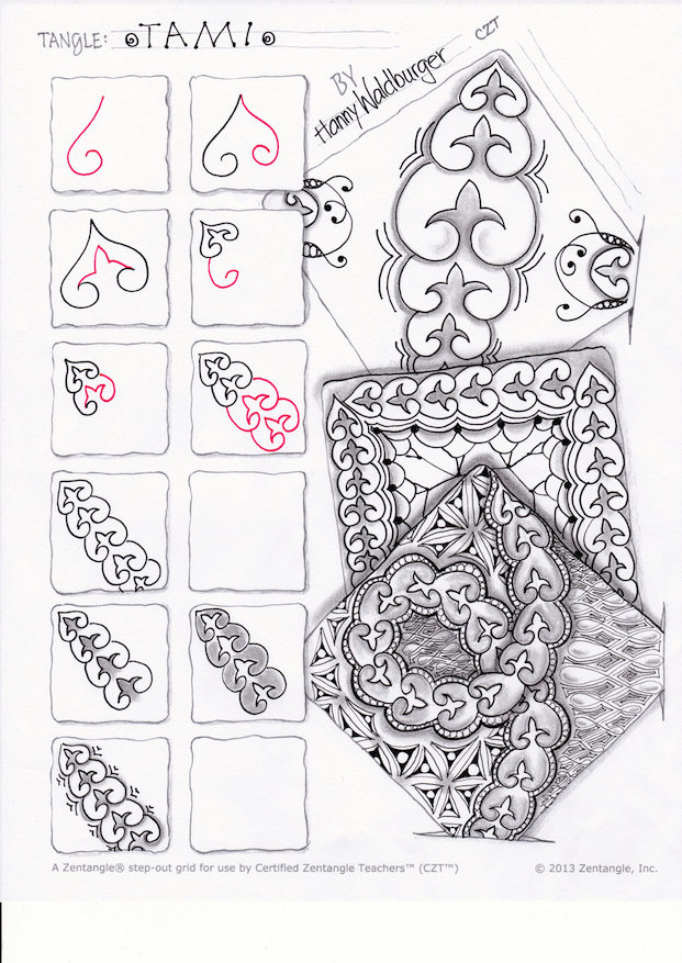 tami stepout by Zenjoy zentangle