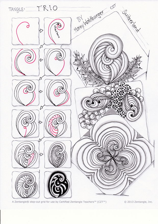 Trio stepout by Zenjoy Zentangle
