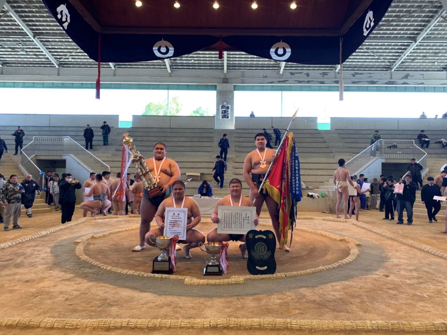 平成31年 全国選抜高等学校相撲選抜大会団体優勝