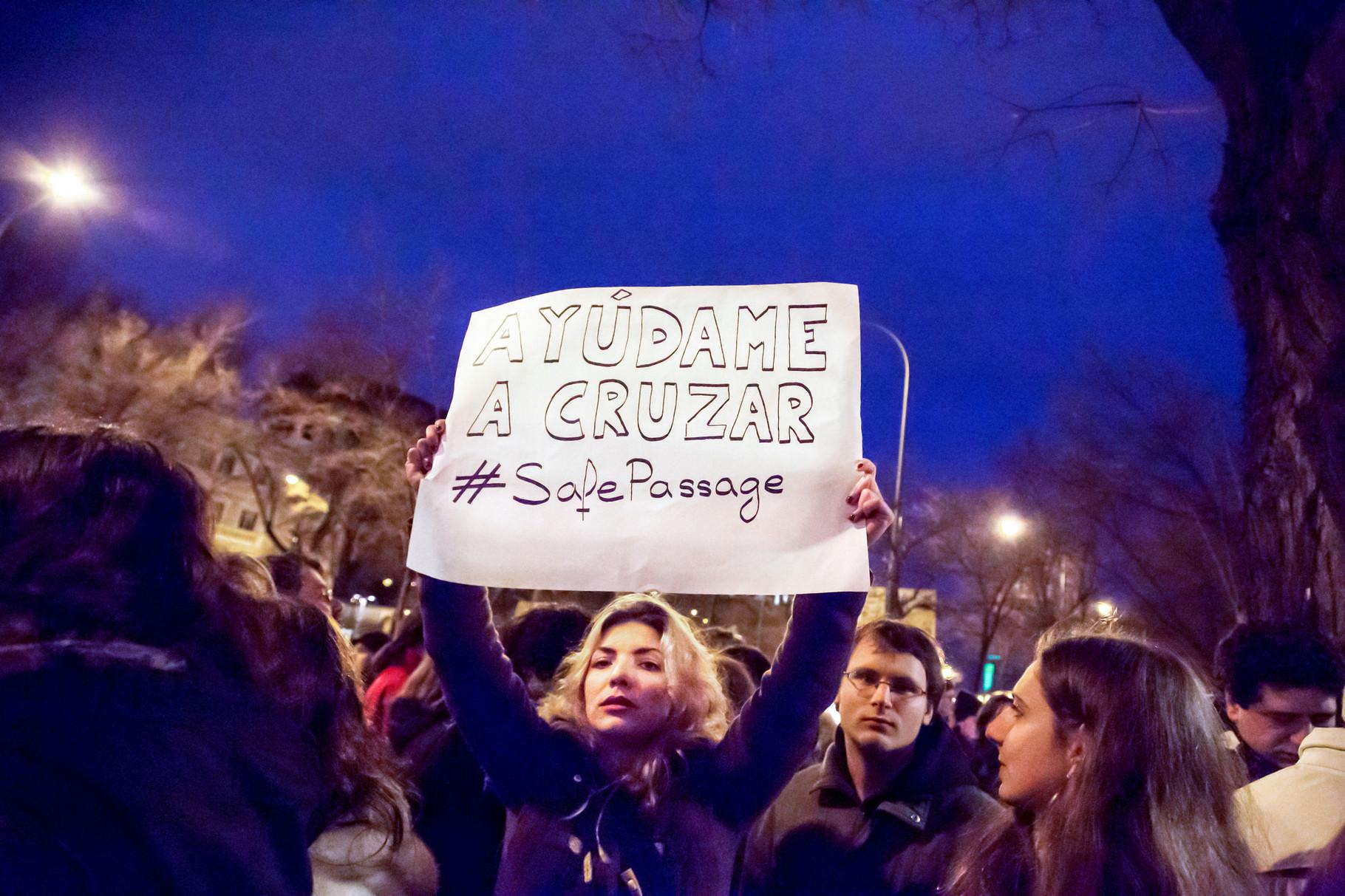 Marcha Europea por los Derechos de los Refugiados. Madrid (2016). Nieves Caballero