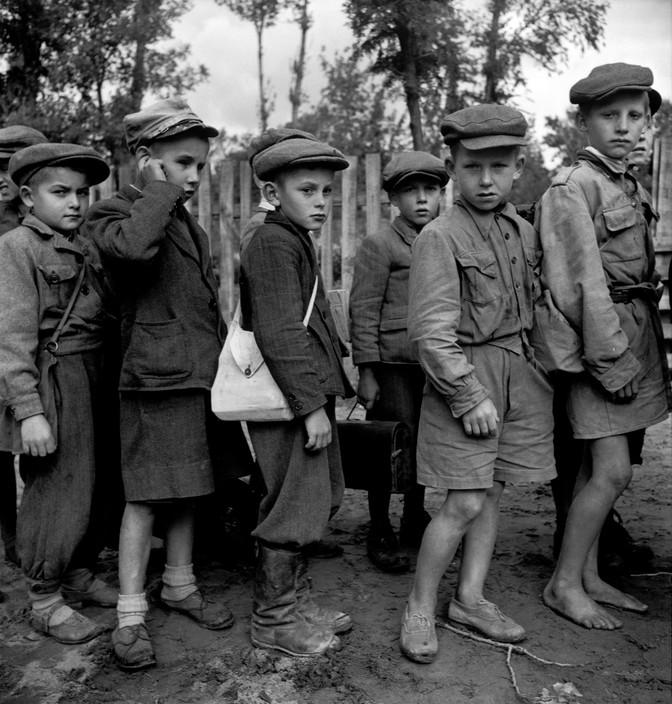 Escuela cerca de Garwolin. Polonia (1948). David Seymour/Magnum Photos