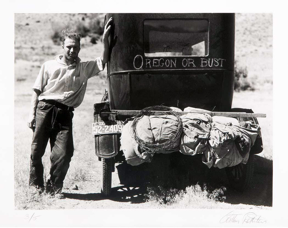 Vernon Evans, emigrant Dakota del Sur, Oregon (1936). Arthur Rothstein