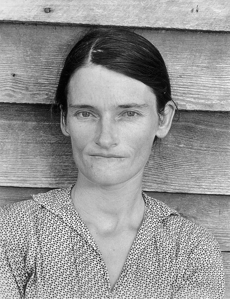 Allie Mae Burroughs, Alabama (1936). Walker Evans