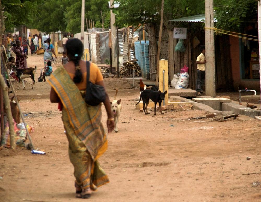 Campo de refugiados en Tamil Nadu, sur de la India (2012). Amelia Shepherd-Smith/IRIN
