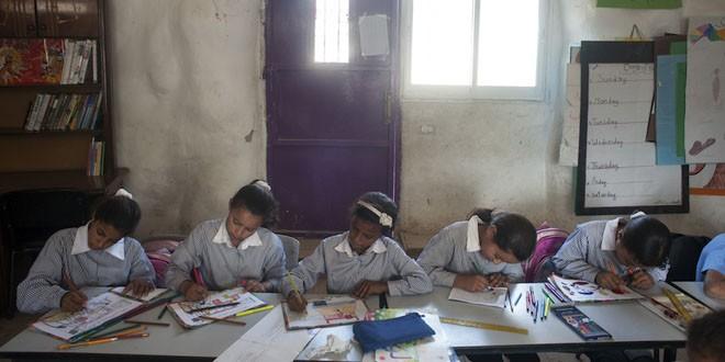 Escuela de Khan Al-Ahmar. Gervasio Sánchez/UNRWA