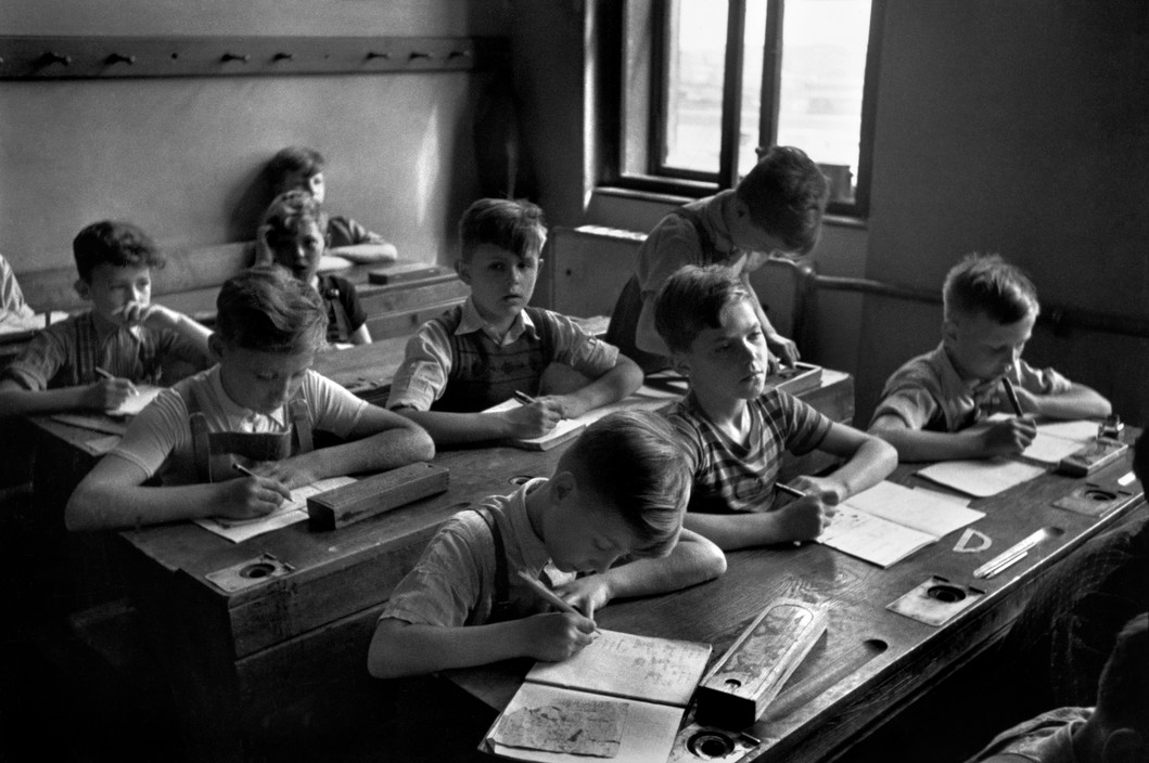 Escuela Primaria. Viena (1948). David Seymour/Magnum Photos