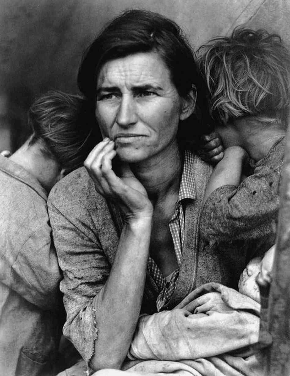 Florence Owens Thompson, California (1936). Dorothea Lange