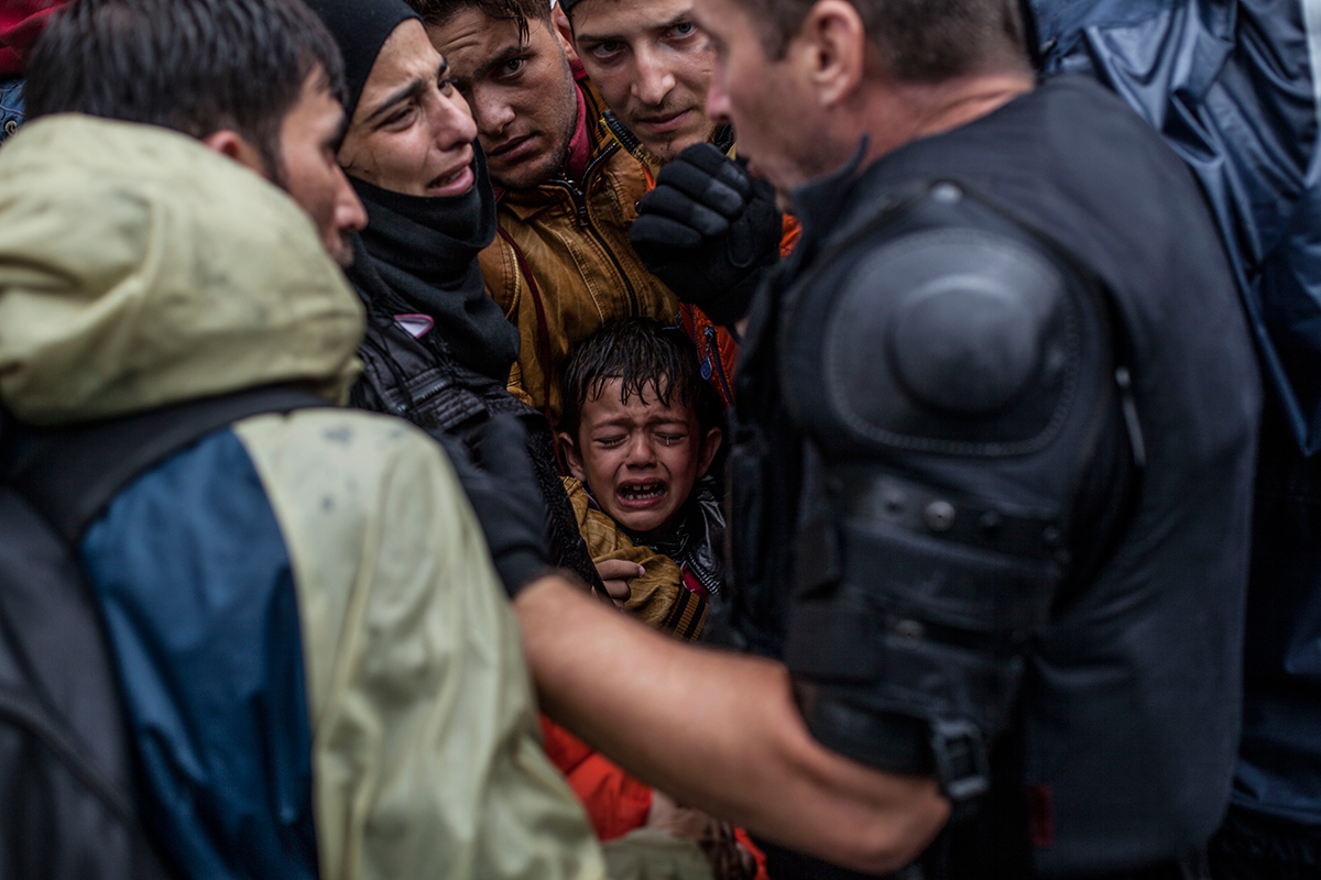 Refugiados sirios llegan a Croacia (2012). Manu Brabo/Associated Press
