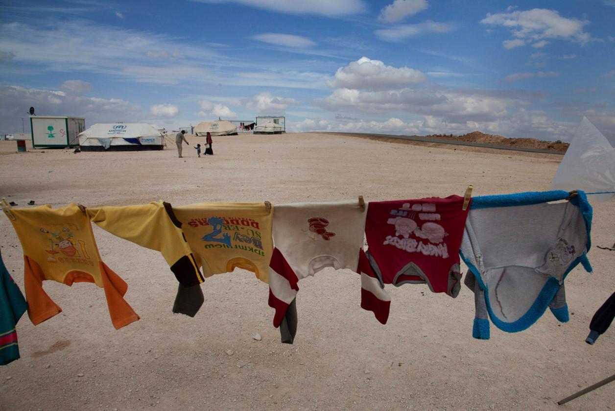 Campo de refugiados de Zaatari, que alberga a poco más de 100.000 refugiados (2014). Lucian Perkins