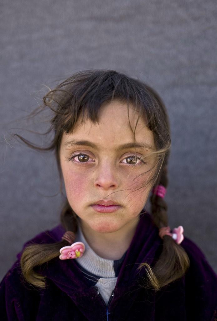 Zahra Mahmoud, cinco años. Refugiada siria. Muhammed Muheisen